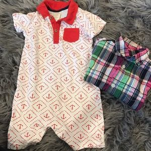 Baby boys romper and shirt